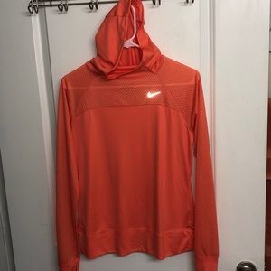 Nike long sleeve dri-fit with hood